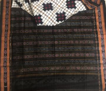 Body checks and Pasapalli Pattern Traditional Motifs Aanchal Cotton Saree without Blouse Piece