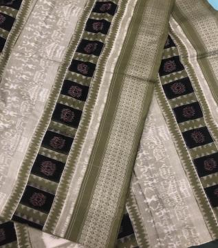 Tribal And Traditional Motifs Fine Cotton Ikat Saree