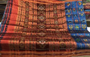 Traditional Nabakothi Khandua Silk Saree without Blouse Piece