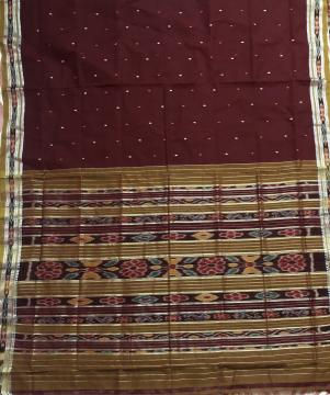Jagatsighpur Cotton Ikat Saree without Blouse piece