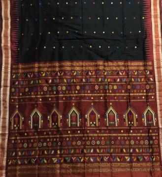 Exclusively Woven Tissue Border Silk Dolabedi Saree with Blouse Piece