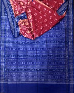Tribal Motifs Body with Traditional Aanchal Ikat Weave Cotton Saree with Blouse Piece