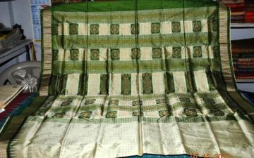Orissa Handloom New pattern Designer Patli Bomkai Saree
