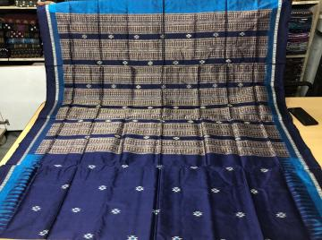Firbi Tribal Bomkai Silk Saree with Blouse piece