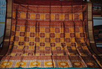 Orissa Handloom Box type Rich Border and Aanchaal Bomkai Saree Sari