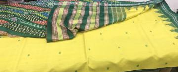Double Aanchal Berhampuri Silk Saree with Blouse Piece