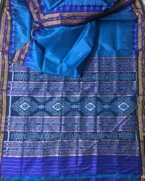 Traditional Ikat Khandua Silk Saree without Blouse Piece