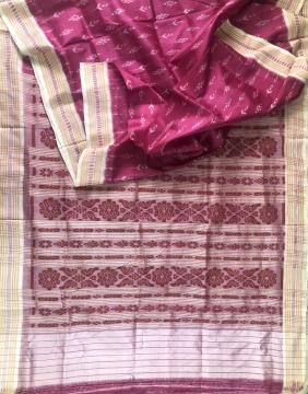 Traditional Ikat Motifs Khandua Silk Saree without Blouse Piece