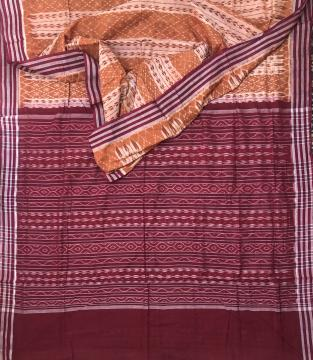 All over Ikat work Sambalpuri Cotton Saree with Blouse Piece