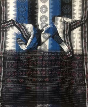 Traditional Nuapatana Cotton Ikat saree without Blouse Piece