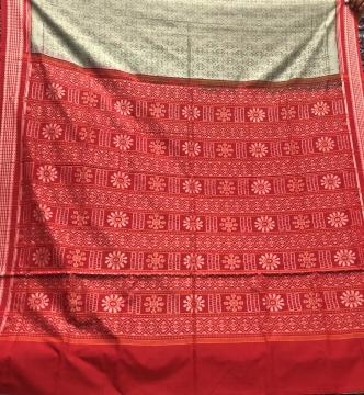 Intricately woven all over Ikat work Cotton Sarde with Blouse Piece
