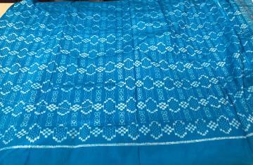 Traditional Ikat motifs Silk Kameez and Dupatta Set