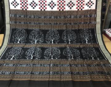 Tree motifs Aanchal Pasapalli Silk Saree with Blouse Piece