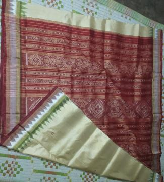 Double Border Khandua Silk Saree without Blouse Piece
