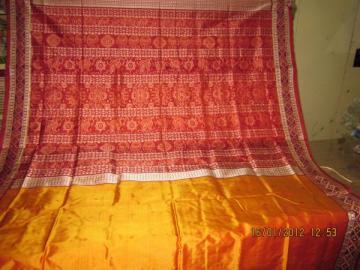 Orissa Handloom Pasapalli border Ikat work Aanchal Saree Sari