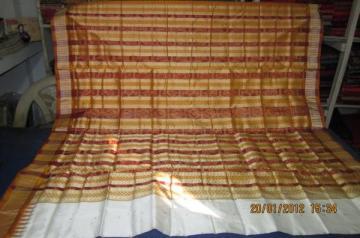Orissa Handloom Traditional Ikat Saree Sari in White