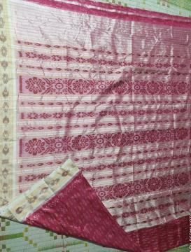 All over body work Ikat Khandua Silk Saree without Blouse Piece