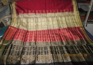 Orissa handloom Doll design Anchal Bomkai Saree sari