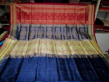 Orissa Handloom double border Bomkai Saree Sari