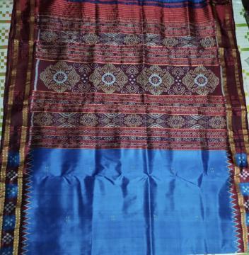 Pasapalli Border Traditional Aanchal Khandua Silk Saree without Blouse Piece