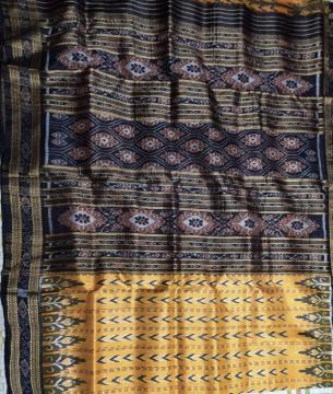 All over Ikat work Khandua Silk Saree without Blouse Piece