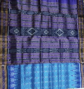 Traditional Ikat Weave Khandua Silk Saree without Blouse piece