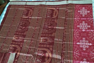 Intricately woven Tribal Motifs Pasapalli Silk Saree with Blouse Piece