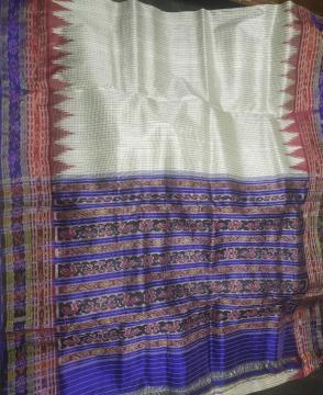 Body Checks Sachipar Khandua Silk Saree without Blouse Piece