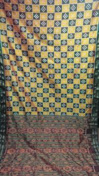 Pasapalli work Traditional Khandua Silk Saree without Blouse Piece
