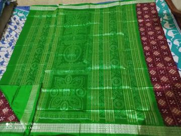 Exclusively woven Traditional Aanchal Pasapalli Silk Saree with Blouse Piece