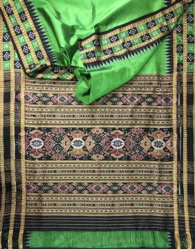 Pasapalli double border Traditional Khandua Silk Saree with Blouse Piece