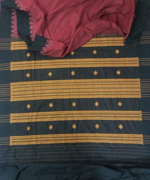 Fine cotton Dongria Saree with Blouse Piece