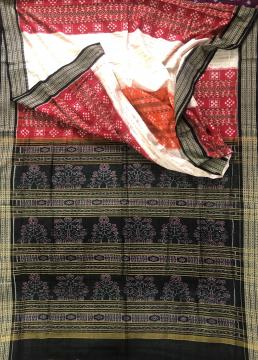 Colourful Pasapalli weave with Ikat work Cotton saree with Blouse Piece