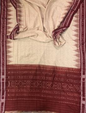 Nuapatana Ikat cotton Jharana Saree without Blouse Piece