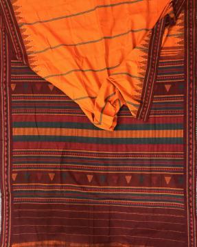 Cotton Dongria Saree without Blouse Piece