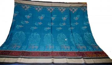 Orissa Handloom Animal motif traditional Ikat saree sari