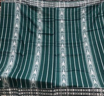 All over work Cotton Habaspuri Saree in Green