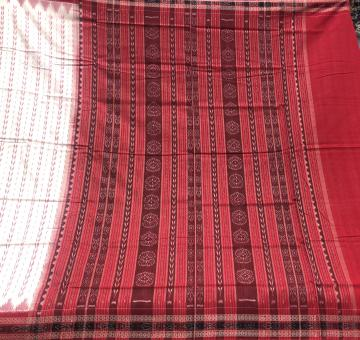 All over Ikat work Cotton saree