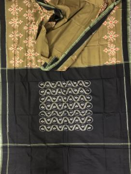 Sambalpuri Ikat Cotton Saree without Blouse Piece