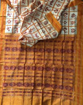 Exclusively woven Khandua Silk Nabakothi Saree without Blouse Piece