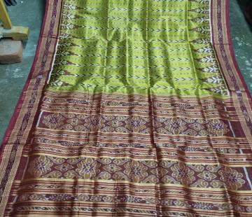 Traditional Dhanapatri Khandua silk saree without blouse piece