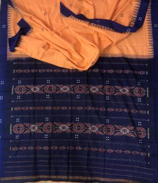 Nuapatana Cotton Ikat Saree without Blouse Piece