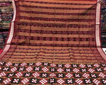 Traditional Aanchal double Ikat Pasapalli Silk Saree with Blouse Piece