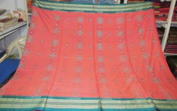 Hand woven beautiful ikat and bomkai combination saree sari