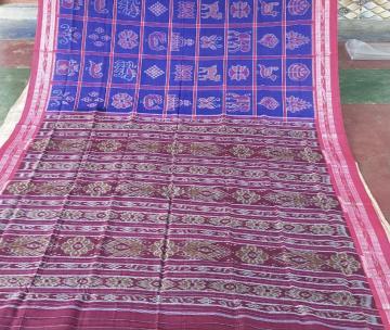 Nuapatana Cotton Nabakothi Saree without blouse Piece