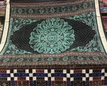 Jhoti Aanchal Double Ikat Utkallaxmi Silk Saree with Blouse piece