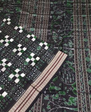 Peacock motifs Aanchal Pasapalli Silk Saree with Blouse Piece