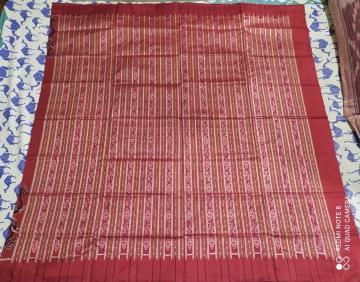 Elephant border Ikat Silk Saree with Blouse Piece