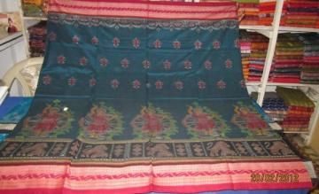Odisha Handloom Traditional Motifs Ikat Saree