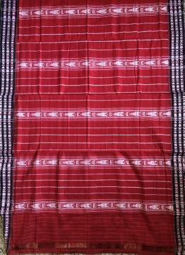 All over fish motifs Cotton King Habashpuri Saree with Blouse Piece